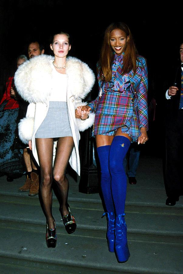 <strong>DRESSED UP DUOS </strong><br><br> Kate Moss and Naomi Campbell