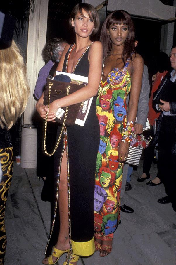 <strong>DRESSED UP DUOS</strong><br><br> Christy Turlington and Naomi Campbell