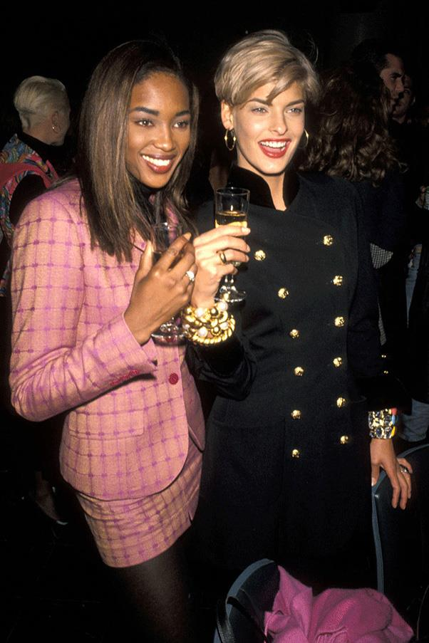 <strong>DRESSED UP DUOS </strong><br><br> Naomi Campbell and Linda Evangelista