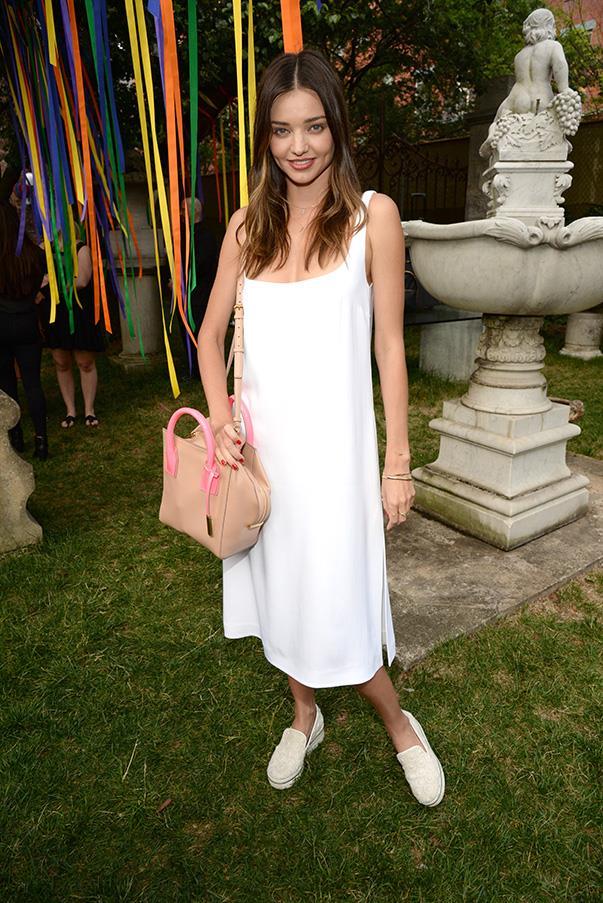 <strong>June 8, 2015</strong><br><br> Miranda Kerr wore Stella McCartney to the designer's Resort 2016 presentation in London.