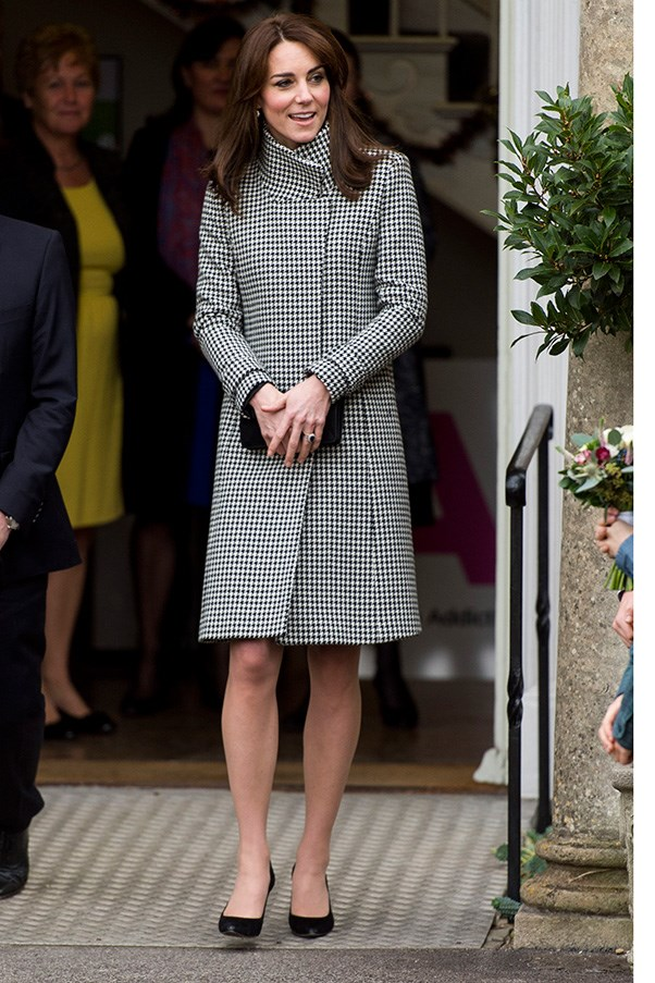 The Duchess reached for her favourite coat brand, Reiss, at an event in London.