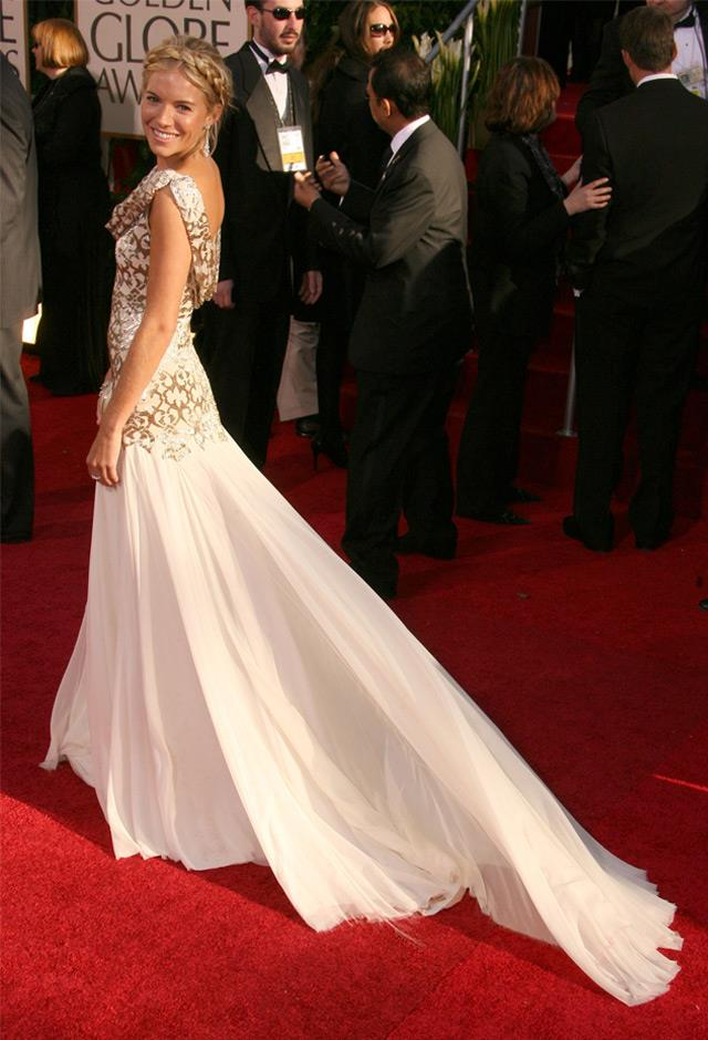 In a chic Marchesa gown at the 64th Annual Golden Globe Awards, 2007.