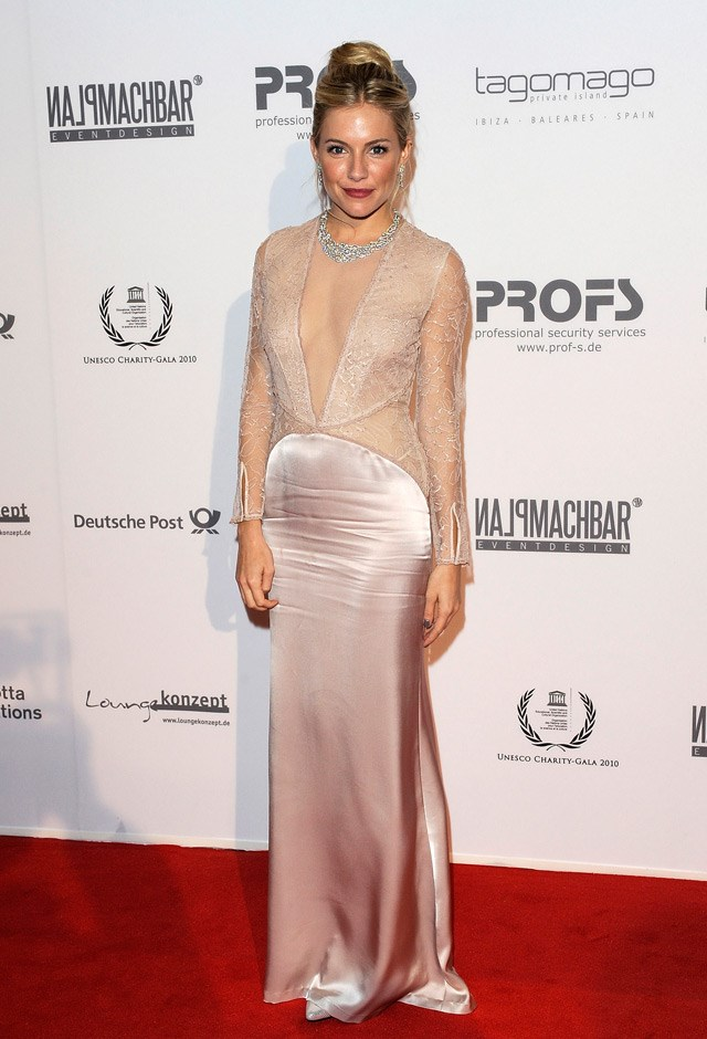 A plunging nude look at the UNESCO Charity Gala, 2010.