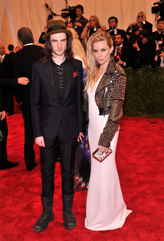 Sienna seriously adhered to the 'Punk' theme at the 2013 Met Gala. She's wearing Burberry.