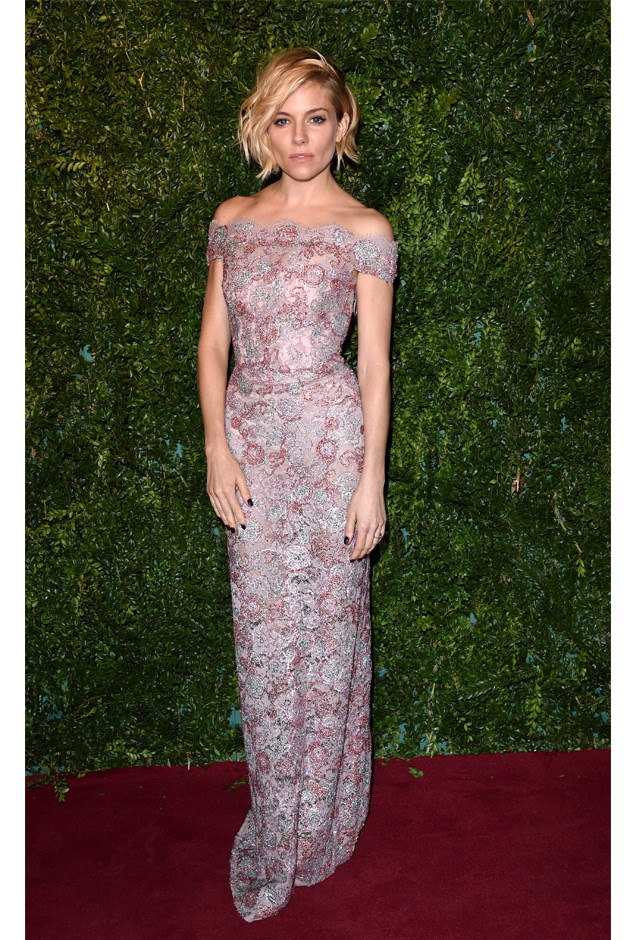 Sienna opted for pretty pastels at the 60th London Evening Standard Theatre Awards in 2014.