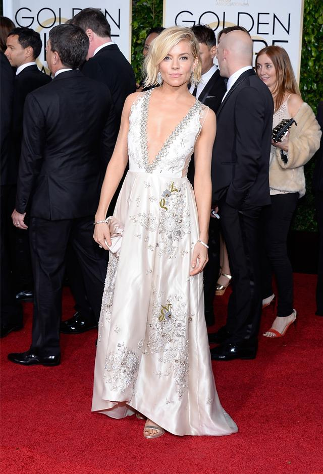 Sienna wowed in this embellished Miu Miu number at the 2015 Golden Globes.