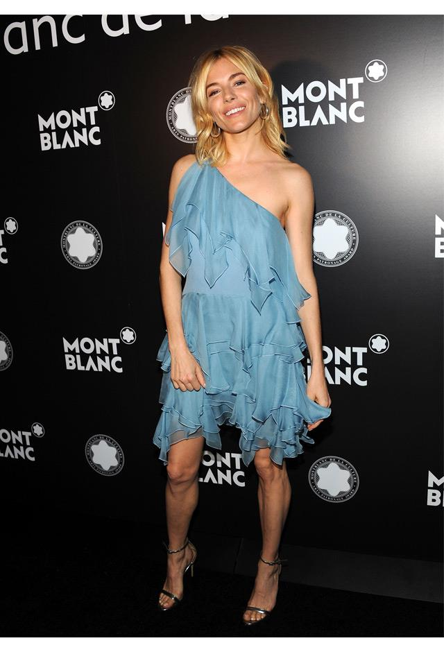 Sienna worked a ruffled Saint Laurent mini dress at the 24th Anniversary of Montblac De La Culture Arts Patronage Awards, 2015.