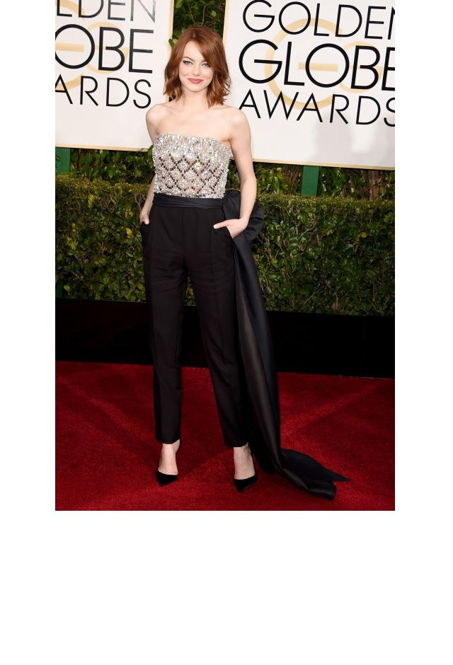 <strong>Emma Stone, 2015</strong> <br><br> In Lanvin.