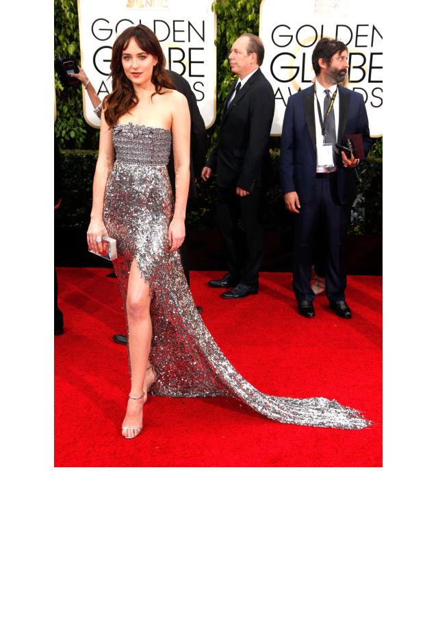 <strong>Dakota Johnson, 2015</strong> <br><br> In Chanel.