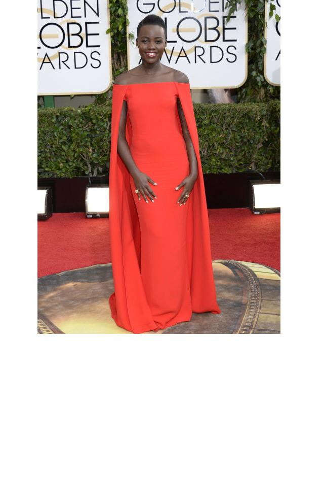 <strong>Lupita Nyong'o, 2014</strong> <br><br> In Ralph Lauren.