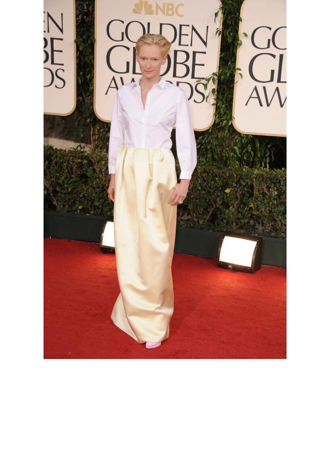 <strong>Tilda Swinton, 2011</strong> <br><br> In Jil Sander.