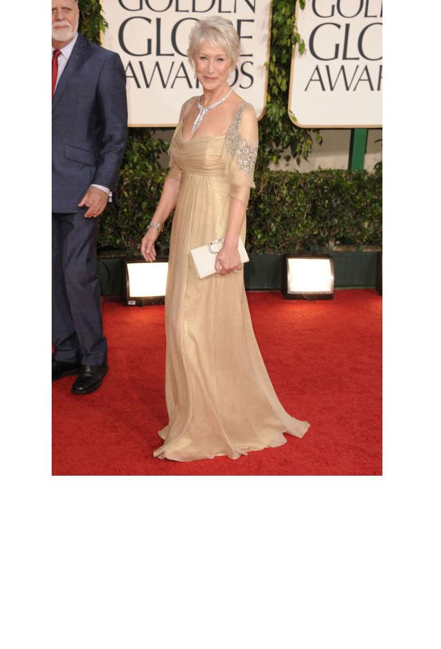<strong>Helen Mirren, 2011</strong> <br><br> In Badgley Mischka.