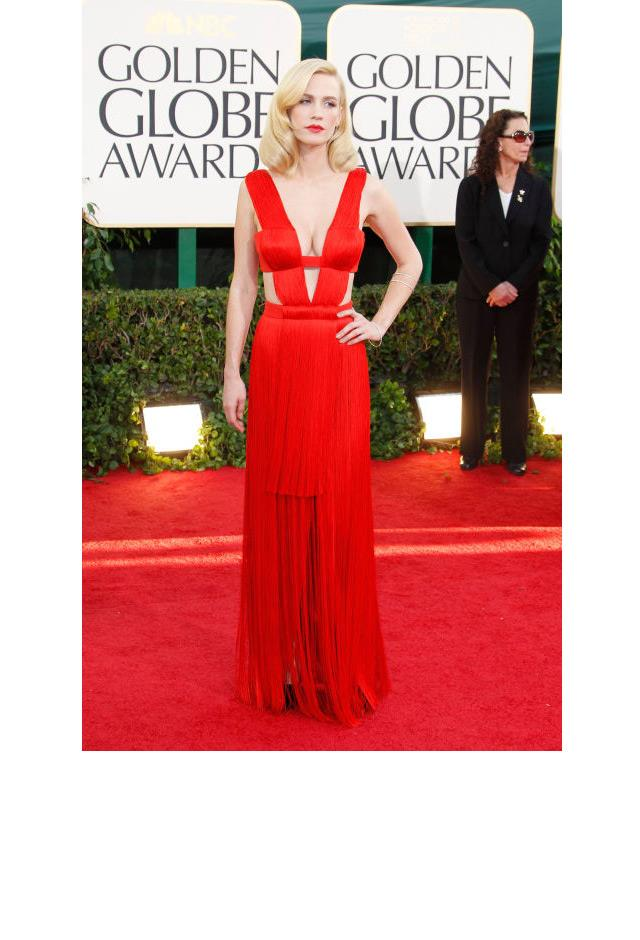 <strong>January Jones, 2011</strong> <br><br> In Versace.
