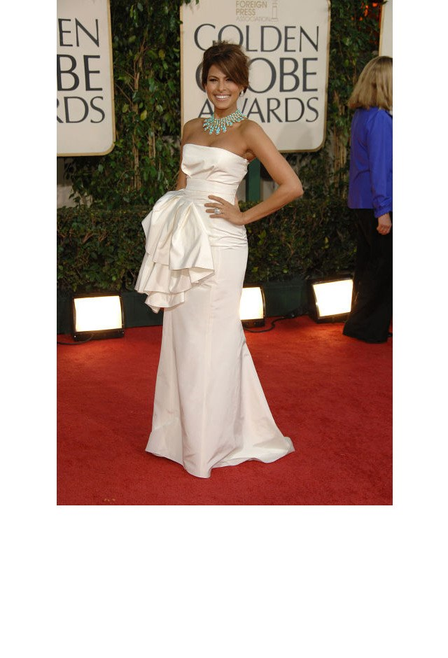 <strong>Eva Mendes, 2009</strong> <br><br> In Christian Dior.