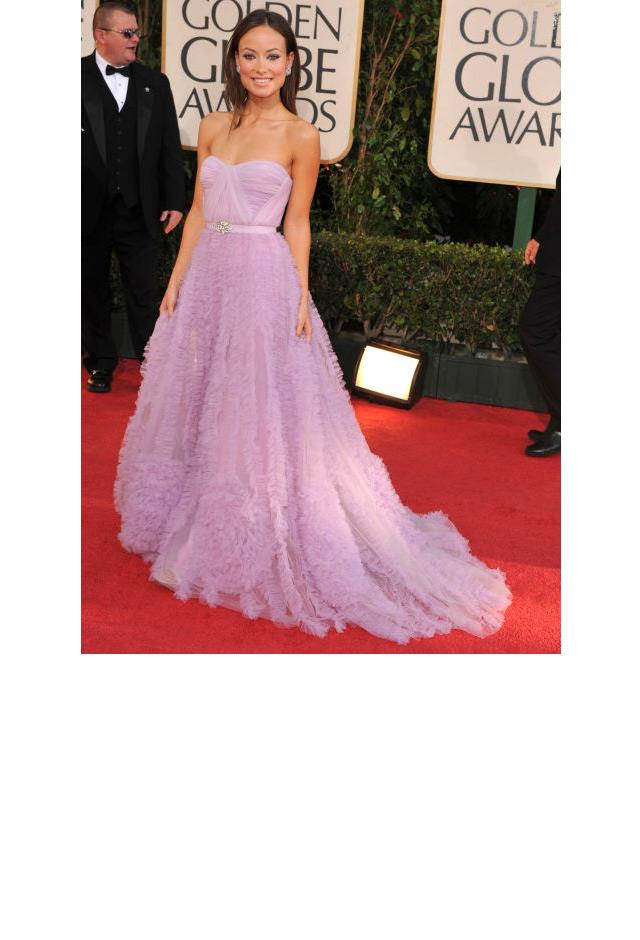 <strong>Olivia Wilde, 2009</strong> <br><br> In Reem Acra.