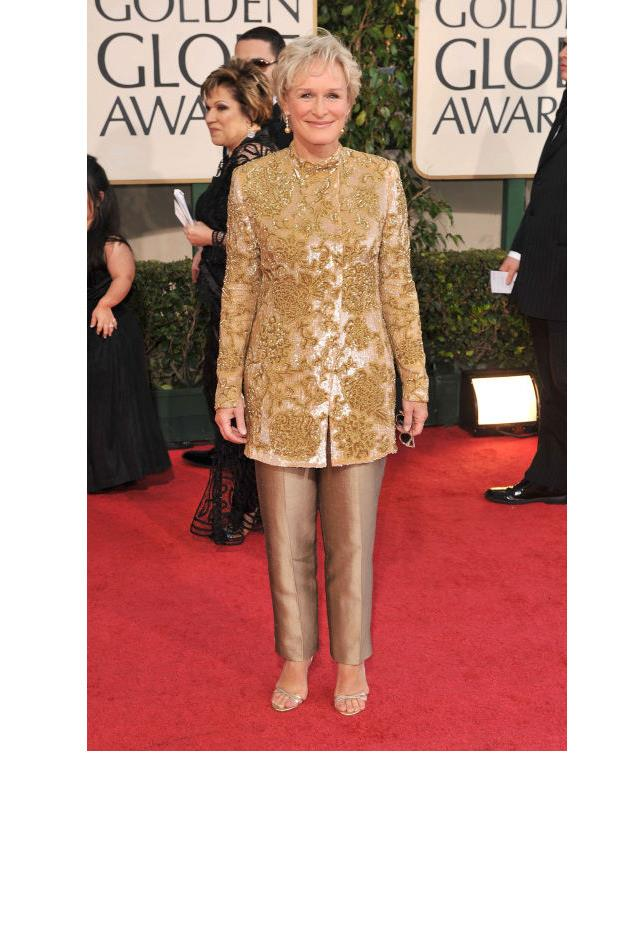 <strong>Glenn Close, 2009</strong> <br><br> In vintage Giorgio Armani.