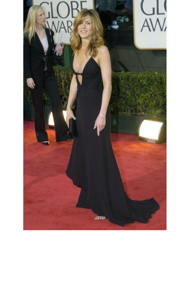 <strong>Jennifer Aniston, 2004</strong> <br><br> In Valentino.