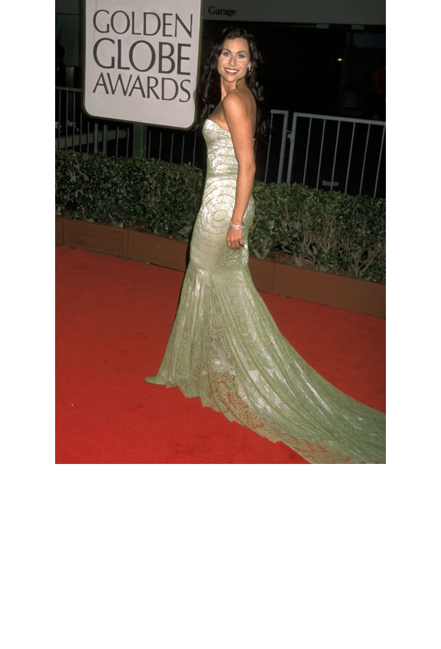 <strong>Minnie Driver, 1998</strong> <br><br> In Givenchy.