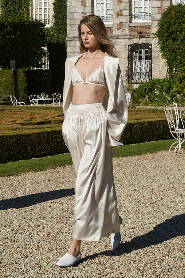 <strong>UNDERWEAR</strong><BR><BR> Cream, black and ivory undergarments in silk and satin? Sign us up.<br><br> Photo: The Row spring/summer 16.