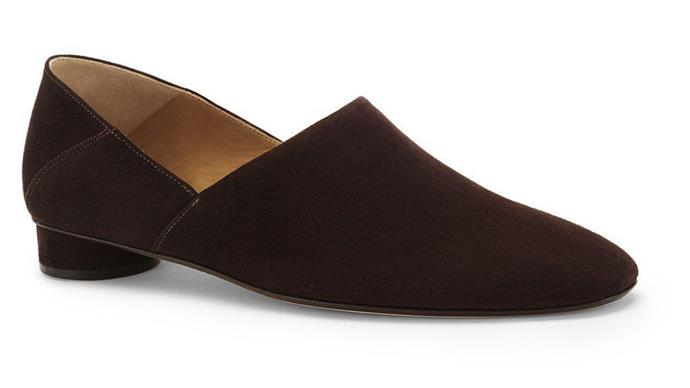 A loafer from The Row's new shoe collection.