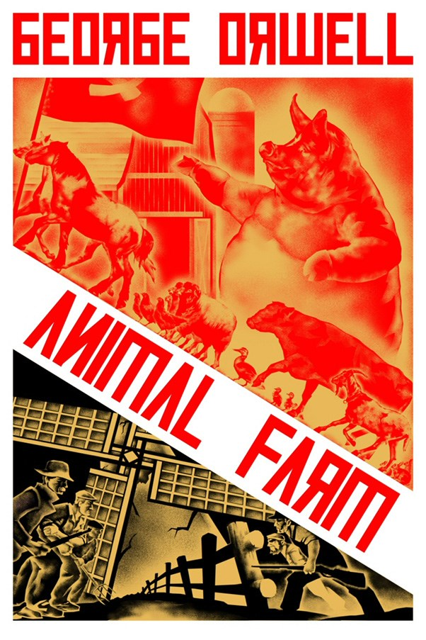 <strong>Animal Farm by George Orwell</strong><br><br> Orwell's allegorical novel criticises the rising influence of Communism in Russia using a cast of farm animals. Cue talking pigs, horses, donkeys, hens and cows.
