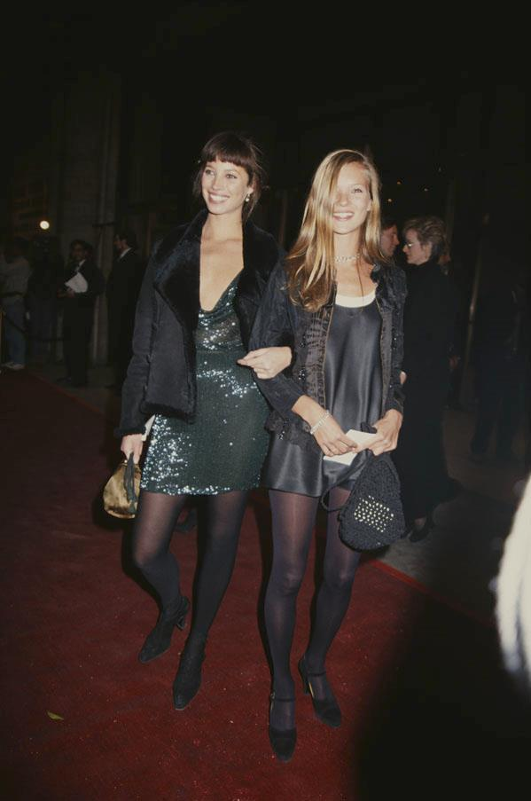 With Christy Turlington in 1993.