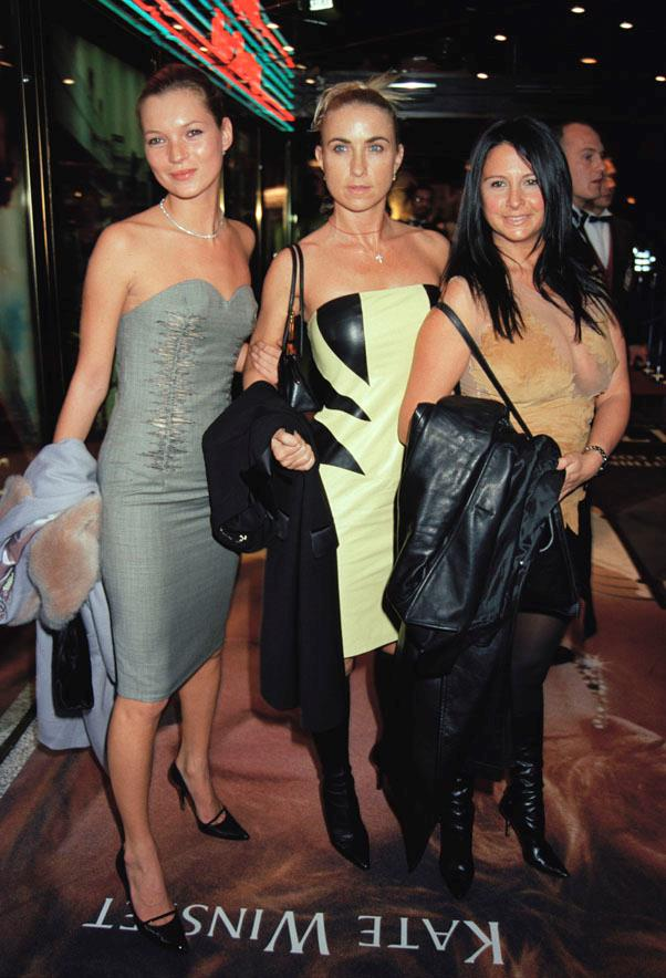 With Meg Matthews and Fran Culter at the premiere of <em>Titanic</em> in 1997.