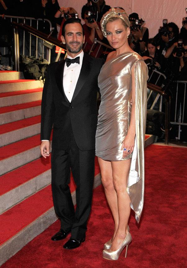 With Marc Jacobs at the 2009 Met Gala.