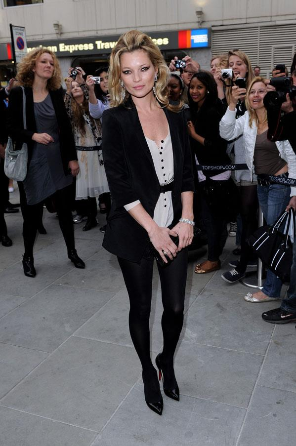 At the opening of Topshop Knightsbridge, 2010.