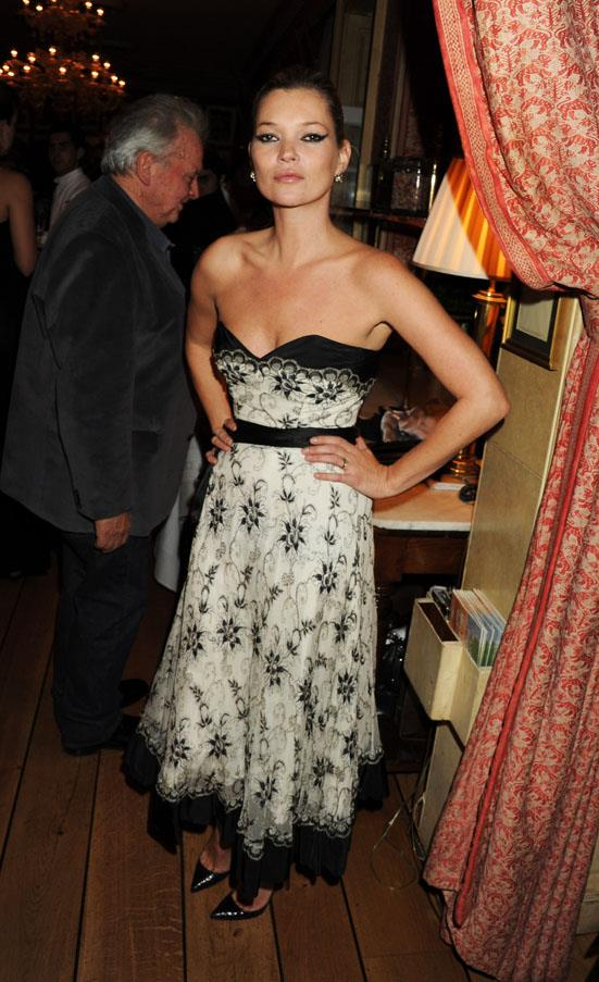 At a David Bailey auction dinner in London, 2010.