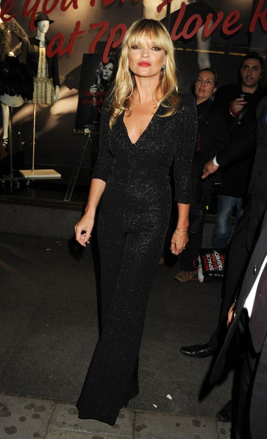 At the launch of Kate Moss for Topshop, 2010.