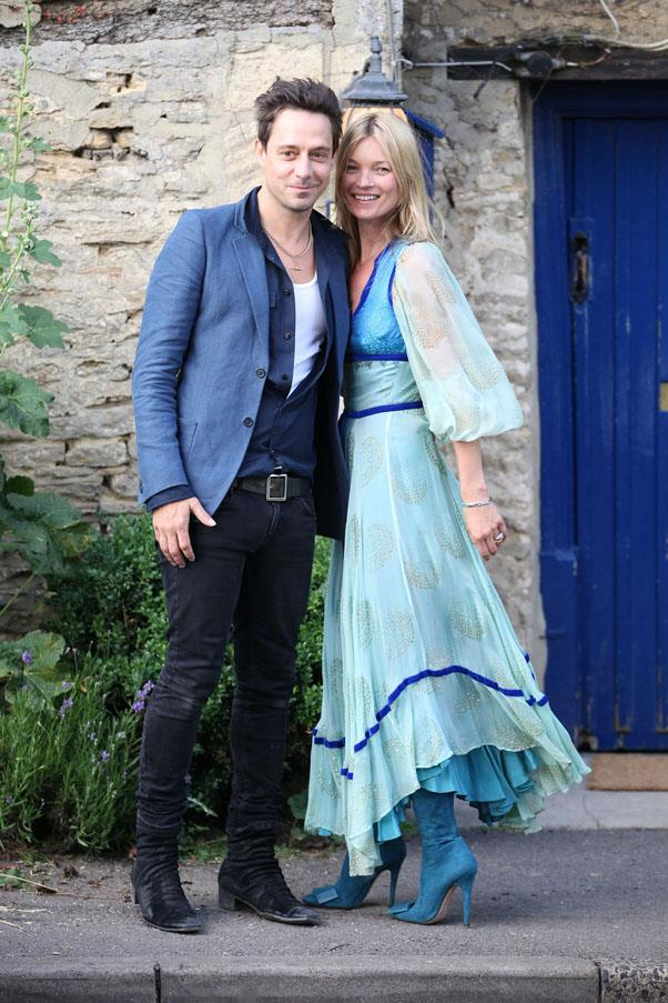 On her wedding day to husband Jamie Hince, 2011.