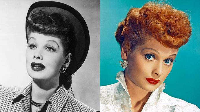 """<strong>LUCILLE BALL</strong><BR><bR> Redheads/ redhead enthusiasts may feel betrayed to know that Lucille Ball was actually brunette, and only dyed her now-iconic locks after Hollywood mega-studio MGM <a href=""""http://www.huffingtonpost.com.au/entry/5-things-you-probably-didnt-know-about-lucy_us_55c224d1e4b0138b0bf489df?section=australia"""">urged her to</a> back in the '50s."""