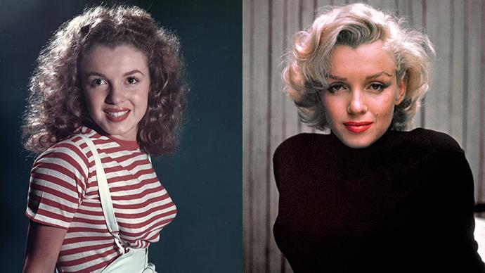 <strong>MARILYN MONROE</strong><BR><BR> Dying her hair from mousy brown to peroxide blonde is ultimately what turned Norma Jean into Marilyn Monroe, the ultimate blonde bombshell.