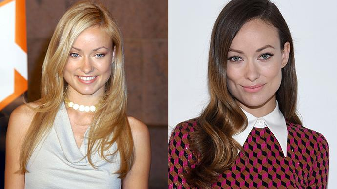 """<strong>OLIVIA WILDE</strong><BR><BR> Olivia Wilde dyed her naturally blonde locks brunette out of fear the blonde 'hot girl' tropes would stop her being taken seriously asan actress.  """"I feel people treat me now how I should be treated,"""" she told <em><a href=""""http://hollywoodlife.com/2011/05/09/olivia-wilde-blonde-brunettes/"""">Hollywood Life</a></em>."""