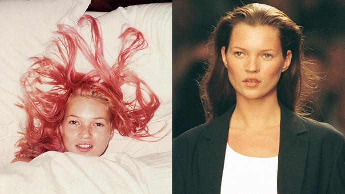 <strong>KATE MOSS</strong><BR><BR> Kate Moss has rocked the same, effortless blonde hair for most of her career, but there was that brief five minutes back in the '90s where she went pink for Juergen Teller. The result is one of her most iconic snaps.