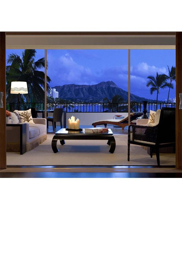 """<strong>Vera Wang's Halekulani Suite, Hawaii</strong> <br><br> The one-bedroom Vera Wang-designed Halekulani Suite occupies the second floor of Honolulu's Halekulani Hotel. The suite boasts 2,135 square feet of indoor space and 640 square feet of outdoor space on a gorgeous oceanfront deck. The Asian-influenced design of the room also comes with a master bath, dining room, personal butler and airport limousine services. <br><br> The Halekulani Hotel, for more information and bookings, <a href=""""http://www.virtuoso.com/hotels/6163848/halekulani?search=halekulani&mode=Gts#.Vh61sLRVikr"""">virtuoso.com</a>"""