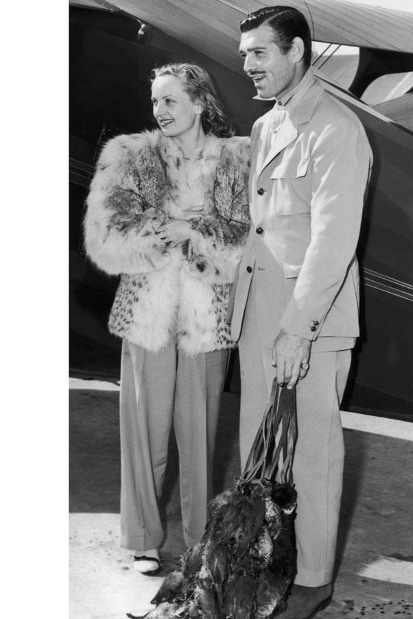 <strong>1939</strong> <br><br> Carole Lombard and Clark Gable