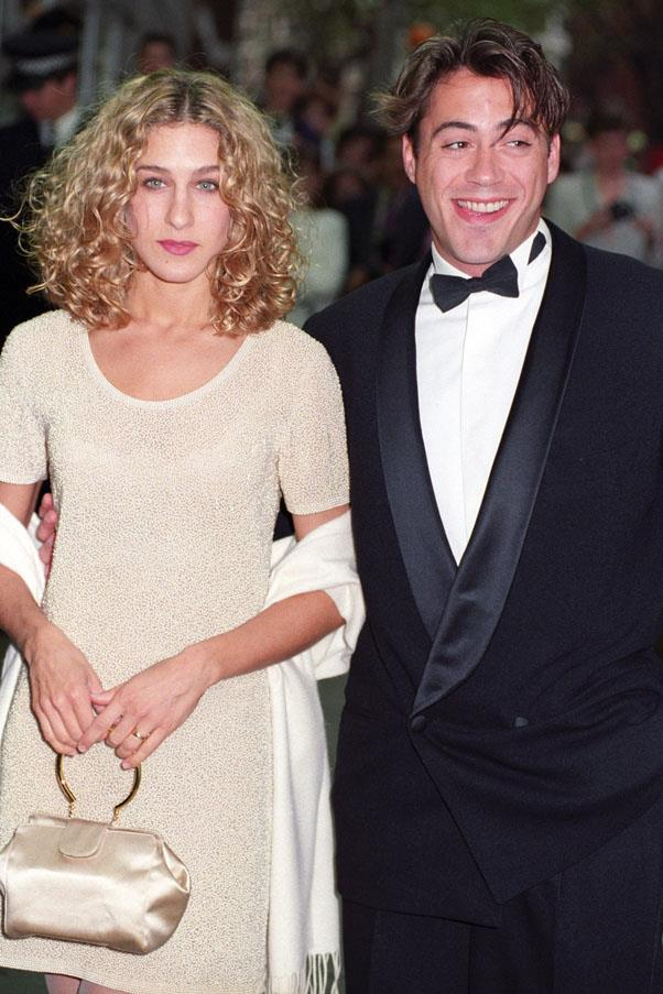 <strong>1984</strong> <br><br> Sarah Jessica Parker and Robert Downey Jr.