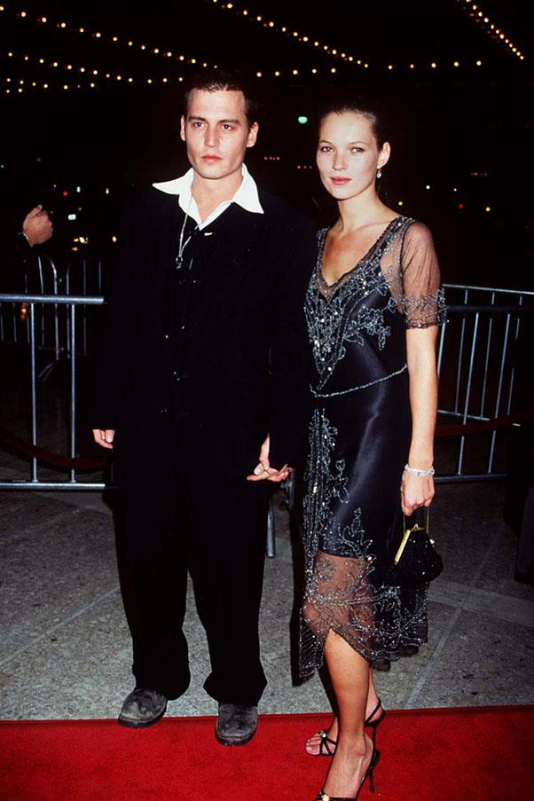 <strong>1994</strong> <br><br> Kate Moss and Johnny Depp