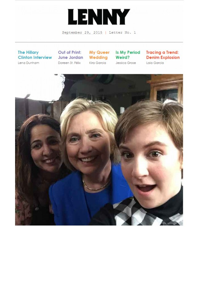 "<strong>Lenny Letter</strong> <br><br> This newsletter is a must for all things feminism, friendship and politics, started by <em>Girls</em> creator Lena Dunham and her TV producer Jenni Kroner. Featuring insightful essays, interviews with inspiring women (including potential President Hillary Clinton for their first issue, just casually) and articles covering the issues that matter, this biweekly newsletter is a burst of energy in your inbox. <br><br> Subscribe <a href=""http://www.lennyletter.com/about/a109/sign-up-for-lenny/"">here</a>."