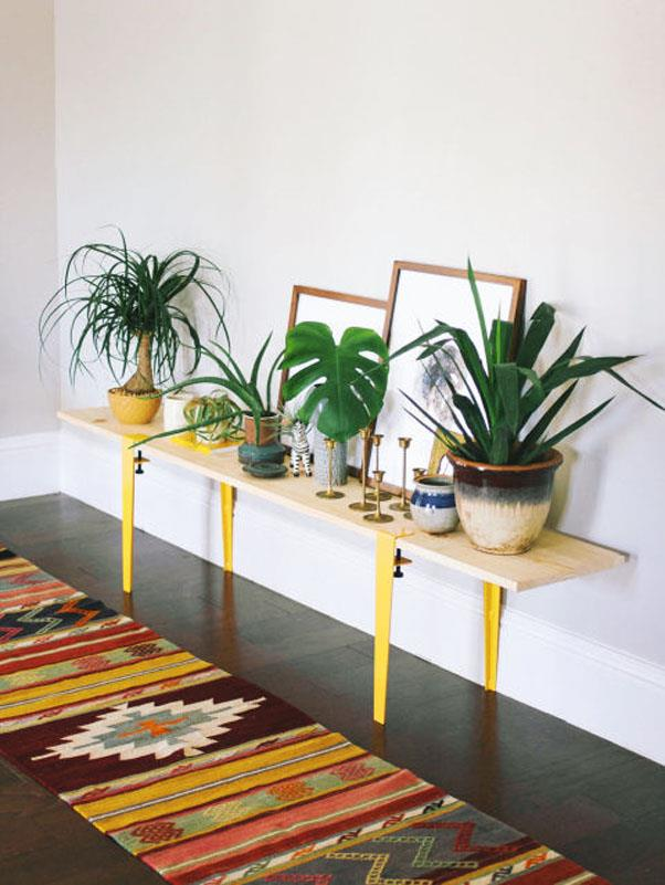 """<em><strong>Problem: Bulky Bookcases</strong></em><br><br> Adjustable legs are the new birds, if bloggers are any indication. They're being put on just about anything, from bookcases to pieces of plywood. Old Brand New blogger Dabito's <a href=""""http://www.oldbrandnew.com/blog/2015/2/diy-with-the-floyd-leg"""">humble bench</a> is just one great example of the trend's enduring practicality."""