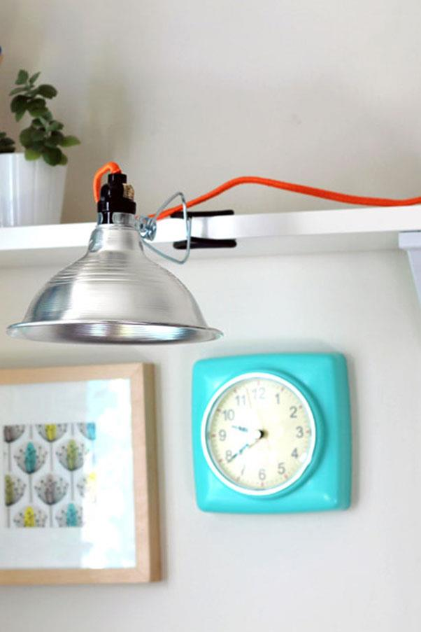 """<em><strong>Problem: Unsightly Cords</strong></em><br><br> In a small space, no detail goes unnoticed. Reclaim ugly lighting for the good of your apartment with Vitamini Handmade's cute and clever <a href=""""http://www.vitaminihandmade.com/2013/03/diy-neon-wrapped-lamp-cord.html"""">cord hack.</a>"""