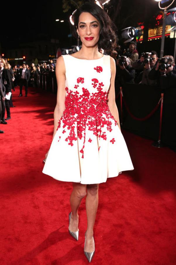 <strong>What: </strong>A Giambattista Valli Haute Couture floral frock and faux bob <br> <strong>When: </strong>February 1, 2016 <br> <strong>Where:</strong> The Hollywood premiere of 'Hail, Caesar!'