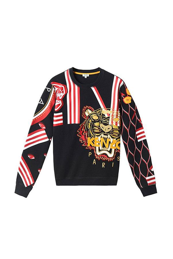 """Kenzo Chinese New Year sweater, prices start from $260, available at <a href=""""https://www.kenzo.com/en/snowbird"""">Kenzo</a>"""