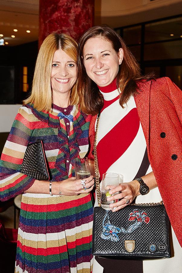 <em>BAZAAR</em> editor-in-chief Kellie Hush and Kathleen Ryan.