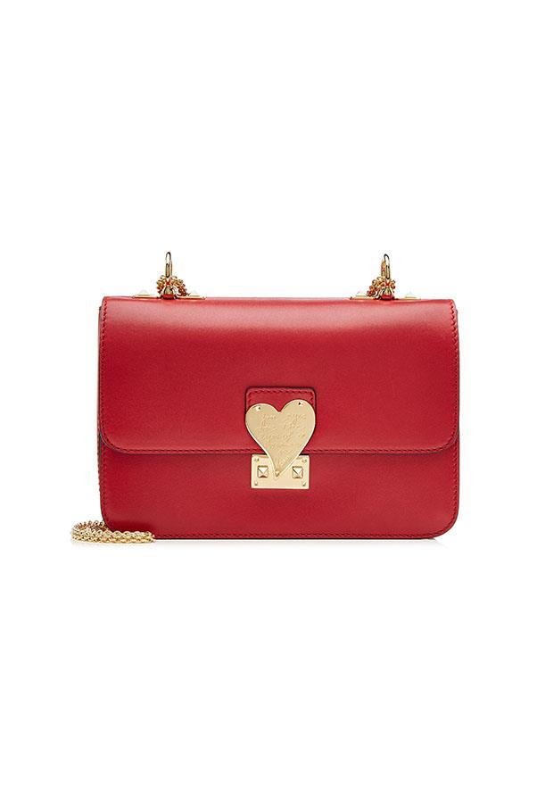 """Valentino L'Amour Leather Shoulder Bag, $2,691, available on <a href=""""http://www.stylebop.com/"""">stylebop.com</a>"""