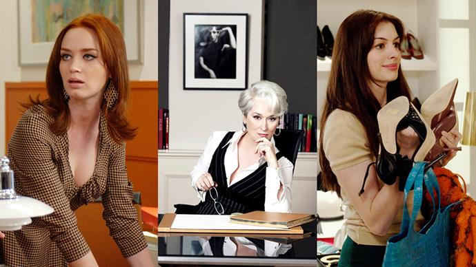 ***The Devil Wears Prada* (2006)** <BR><BR> This isn't a fashion movie, this is <em>the</em> fashion movie. Thank Meryl Streep and her Oscar-nominated turn as Miranda Priestly, a thinly veiled caricature of Anna Wintour, for giving the movie its film-buff credibility. Added points? Andie (Anne Hathaway's) head-to-toe oh-so-2000s Chanel ensemble and a cameo by Gisele Bündchen as a bitchy magazine staffer.