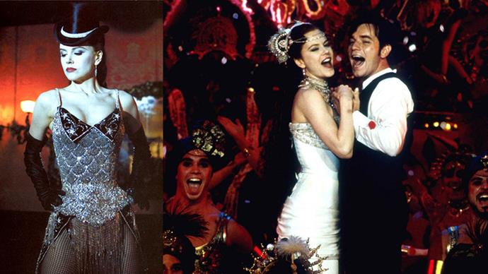 ***Moulin Rogue!* (2001)** <BR><BR> The costumes in Baz Luhrmann's 2001 masterpiece are some of the best in wife/costume designer Catherine Martin's long and Academy Award-filled career. The Paris circa 1902 bohemia setting makes for intricate, bejewelled corsets and feathered negligee—and let's never, ever forget that crimson gown Nicole Kidman's Satine wears in the 'Elephant Love Medley' scene.