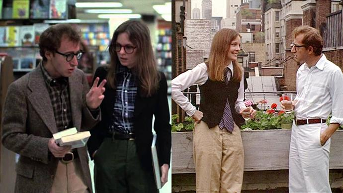 ***Annie Hall* (1977)** <BR><BR> Diane Keaton insisted on chosing her own wardrobe to play the title character in this Best Picture-winning film; and boy are we grateful that she got her way. Keaton's unique take on androgyny has turned decades of women onto high-waisted trousers and loose-fitting button up shirts.